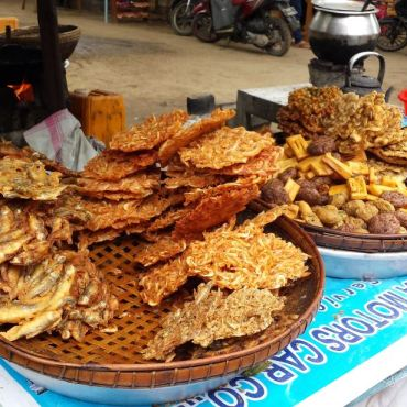 Frittelle di gamberetti e pesce