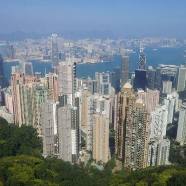 Skyline di Hong Kong dal Victoria Peak