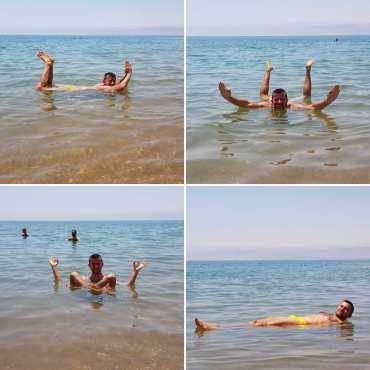 Galleggiare sul mar Morto