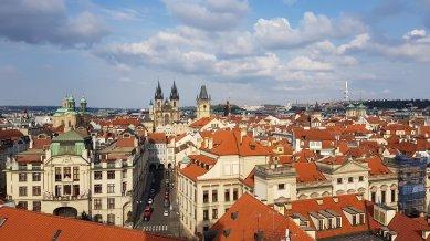 Vista di Praga dalla torre